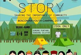 BOSCONIAN YOUTH CAMP 2019 - 4 - 6 Juni 2019 di Gunung Puntang, Jawa Barat