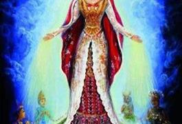 Mahkota Santa Maria Bunda Segala Suku Bukan dari Bunga Mawar  Tetapi Kepulauan INDONESIA