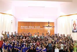 Pelantikan Dewan Paroki Pleno 2018 - 2021 : Selalu gembira dalam pelayanan