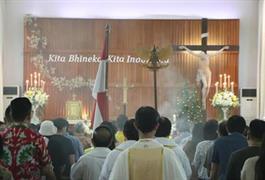 Misa pembukaan tahun persatuan Amalkan Pancasila : Kita Bhinneka, Kita Indonesia